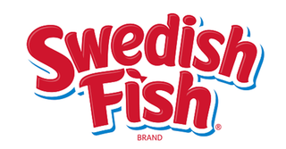 A picture of the Swedish Fish logo against a white background.