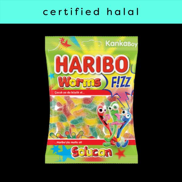 Halal Haribo Fizzy Worms