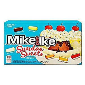 A picture of Mike and Ike Sundae Sweets box against a white background.