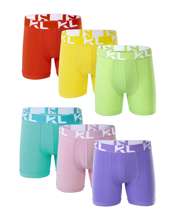 Men underwear ultra soft microfiber fabric - 6 Pack  ORANGE/YELLOW/GREEN/MINT/PINK/LAVENDER