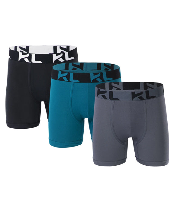 Men underwear ultra soft microfiber fabric - 3 Pack BLACK/GREEN/GRAY