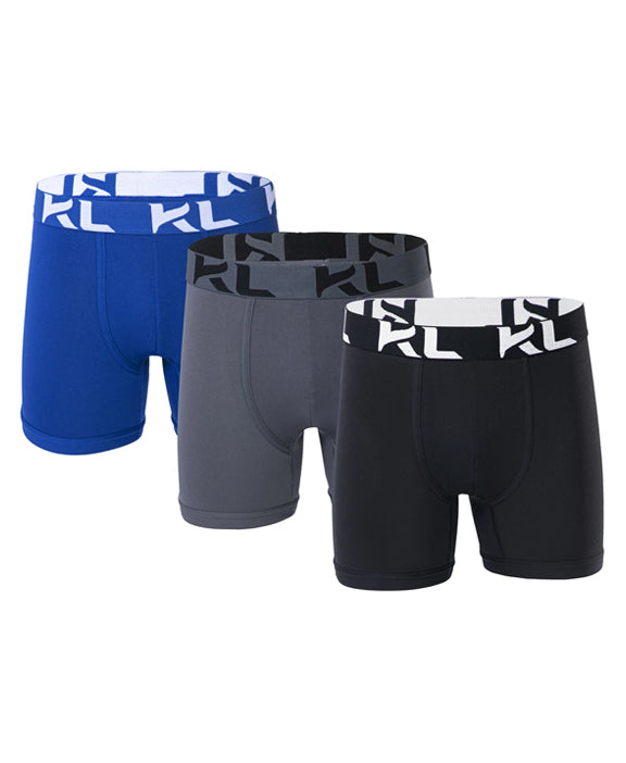 Men underwear ultra soft microfiber fabric - 3 Pack DARK BLUE/GRAY/BLACK