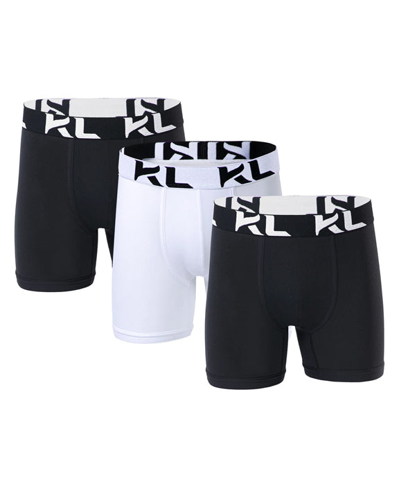 Men underwear ultra soft microfiber fabric - 3 Pack BLACK/WHITE
