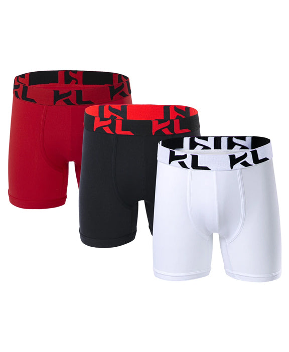 Men underwear ultra soft microfiber fabric - 3 Pack RED/BLACK/WHITE