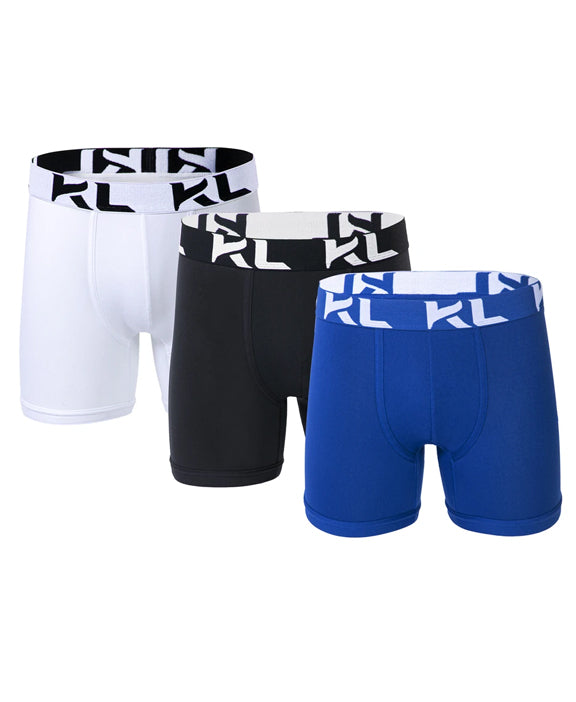 Men underwear ultra soft microfiber fabric - 3 Pack WHITE/BLACK/DARK BLUE