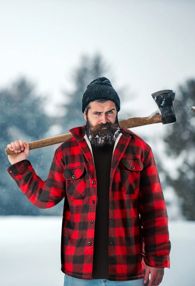 Lumberjack Jacket for Men Red - Heat Insulator