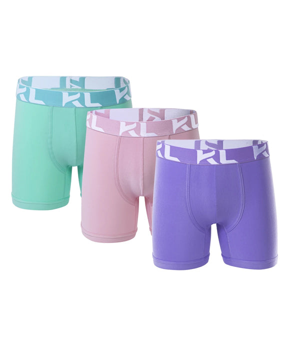Men underwear ultra soft microfiber fabric - 3 Pack LAVENDER/PINK/MINT