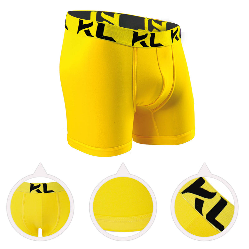 Men underwear ultra soft microfiber fabric - 3 Pack BLACK/YELLOW