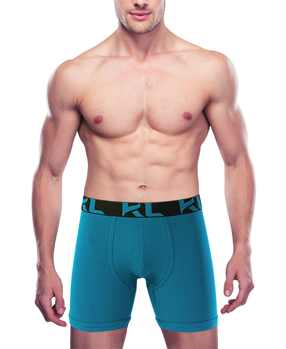 Men underwear ultra soft microfiber fabric - 3 Pack BLK/TEAL/GRY