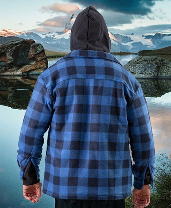 Lumberjack Jacket for Men Blue - Heat Insulator