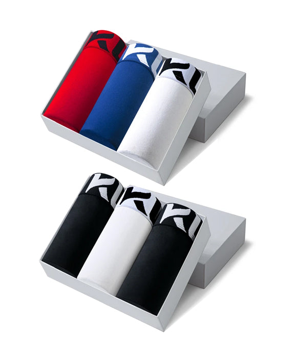 Men underwear ultra soft microfiber fabric - 6 Pack RED/DARK BLUE/WHITE/BLACK