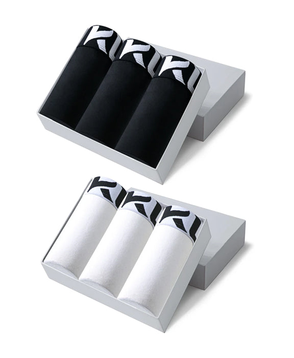 Men underwear ultra soft microfiber fabric - 6 Pack WHITE/BLACK