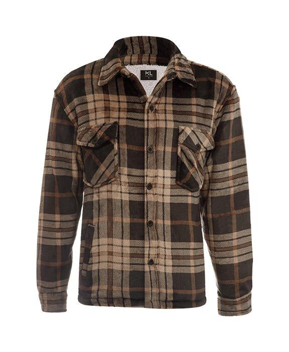 Lumberjack Jacket for Men Black/Mocha - Heat Insulator + FREE BAG
