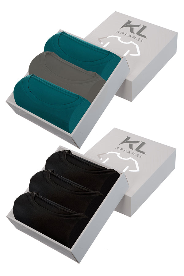 Mens Crew Neck T-Shirts 6 PACK BLACK/TEAL/GRAY/