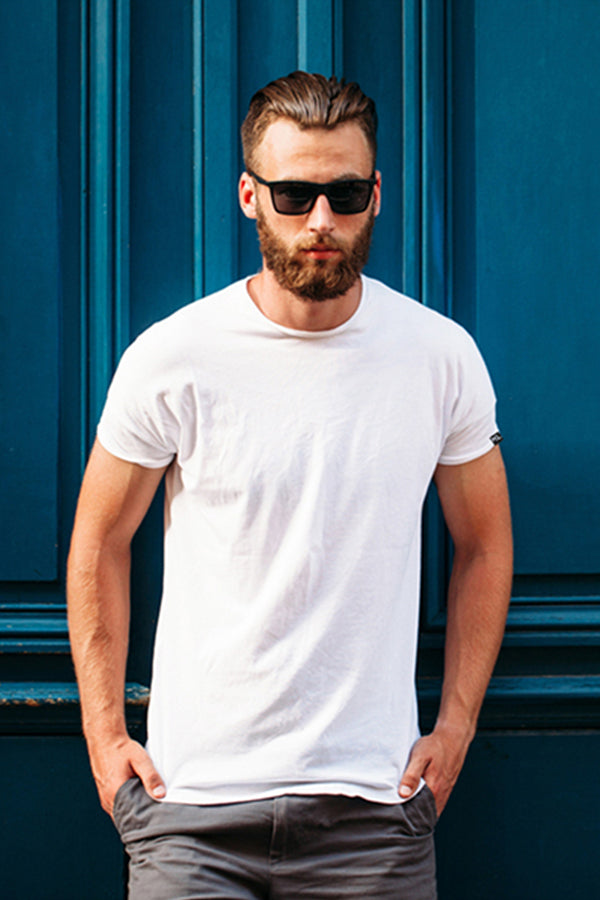 Mens Crew Neck T-Shirts 3 PACK WHITE