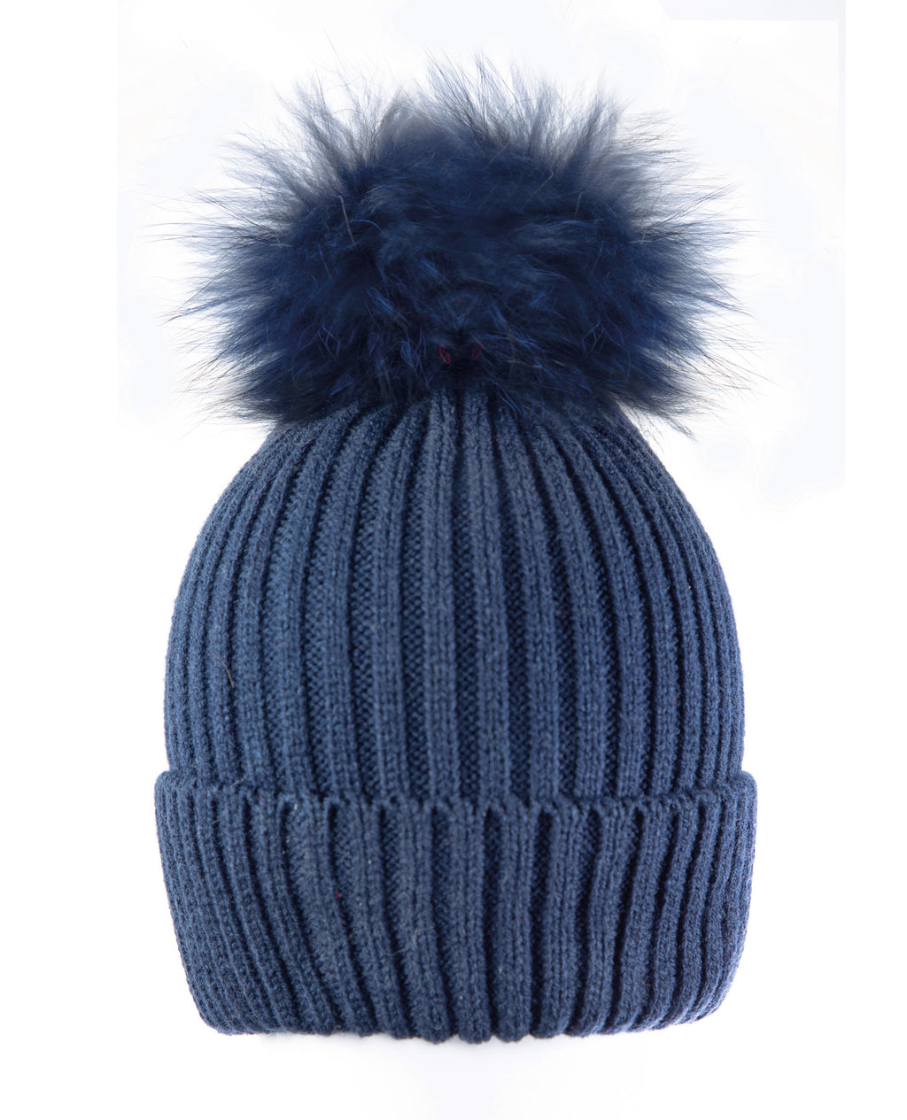 Blue/Blue Beanie Hat with exclusive Pom Pom