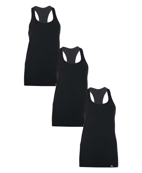 Women Tank Tops - 3 PACK BLACK