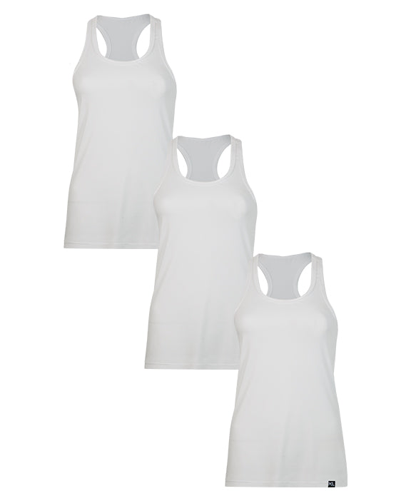 Women Tank Tops - 3 PACK WHITE
