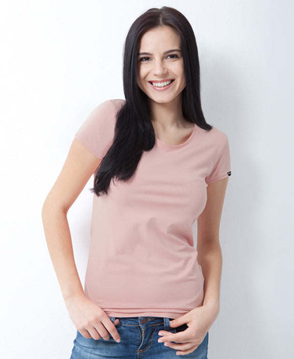 Women Crew Neck T-Shirts  3 PACK WHITE/LAVENDER/PINK