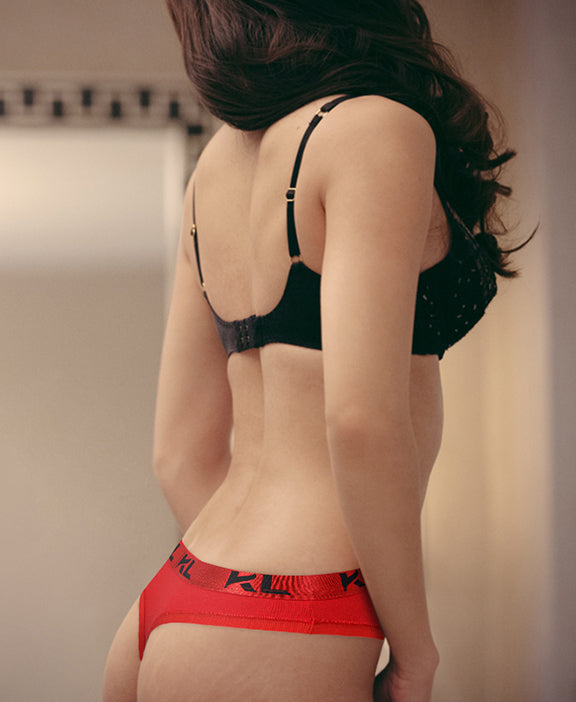 Women Thong Briefs 3 PACK RED/ BLACK/ GRAY