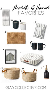 Hearth and Hand Finds for Spring.  Favorite Target finds in home decor