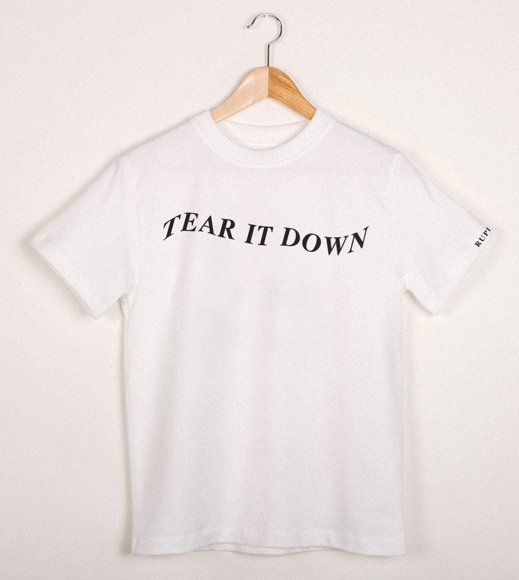 'tear it down' T-Shirt in White