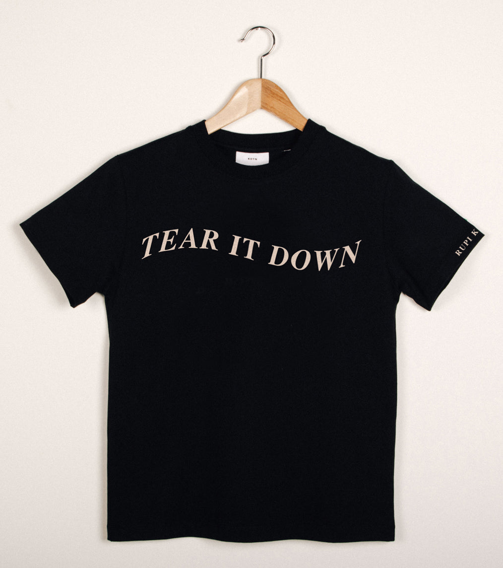 'tear it down' T-Shirt in Black