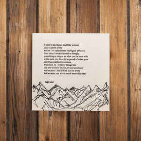 """mountains"" Limited Edition"