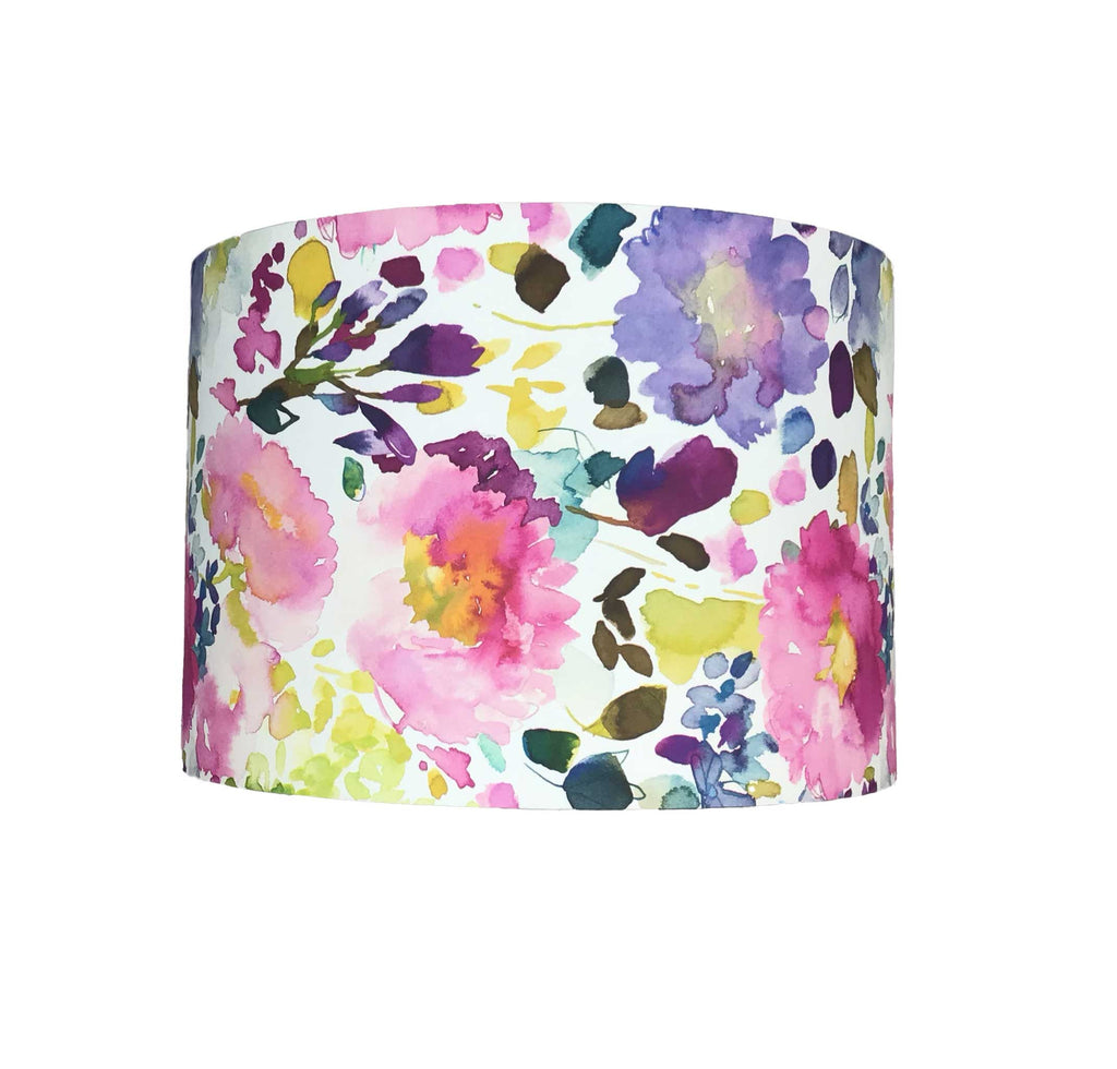 Handmade Lamp  Shade made with a Paper Covering and is full of Fresh Blossom and Buds in Summery Warm Tones - Zzinihome