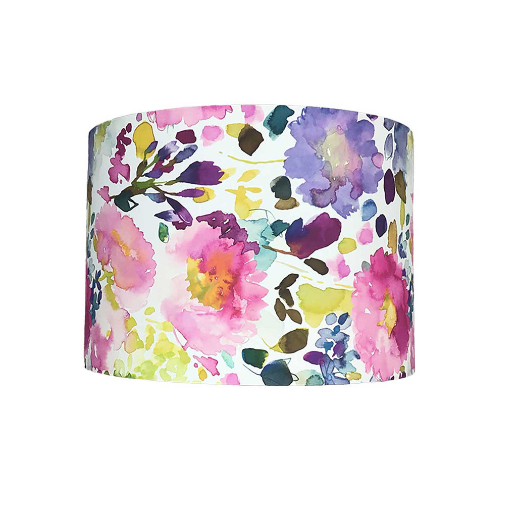 Drum Lamp Shade in Mauve and Pink Blossom - ZziniHome