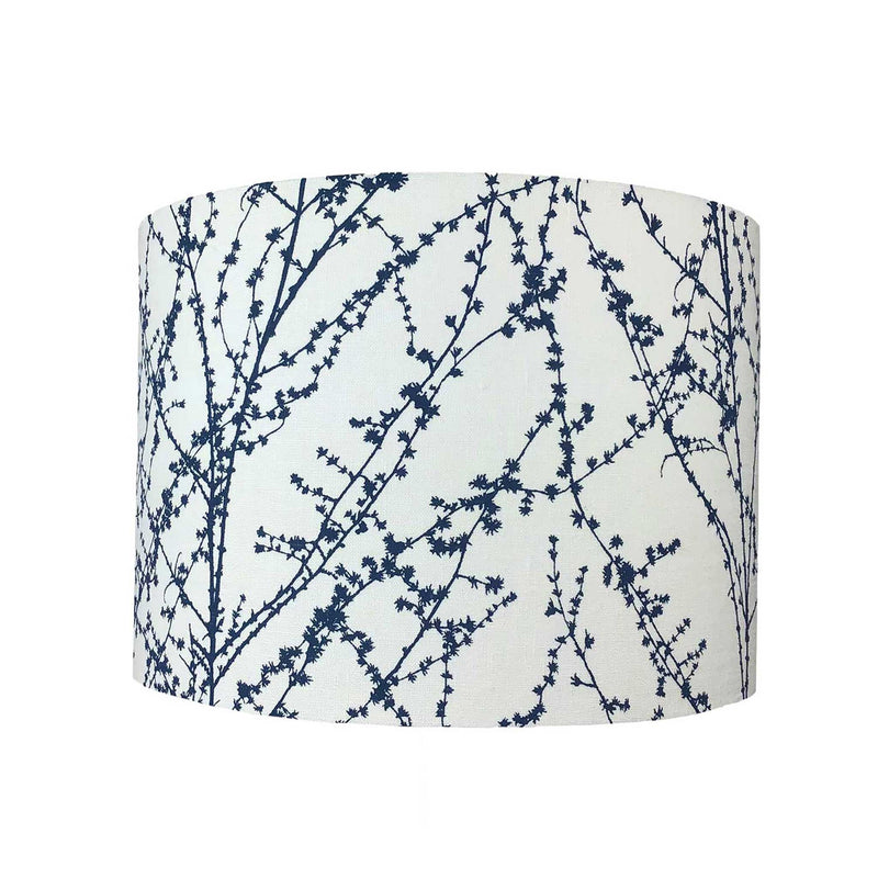 Lamp Shade in a Navy Twig Design - ZziniHome