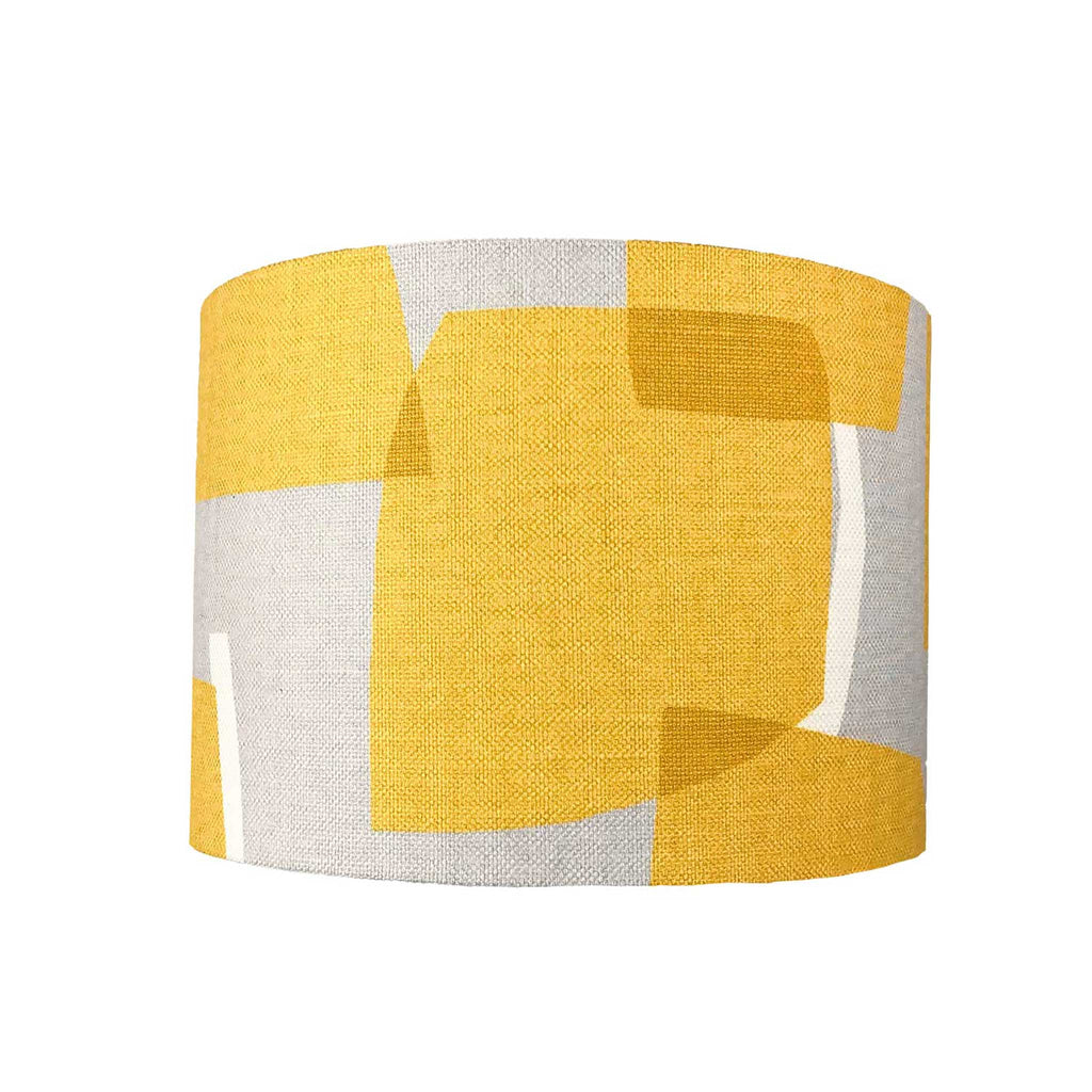 Lamp Shade in Yellow Geometric Design - ZziniHome