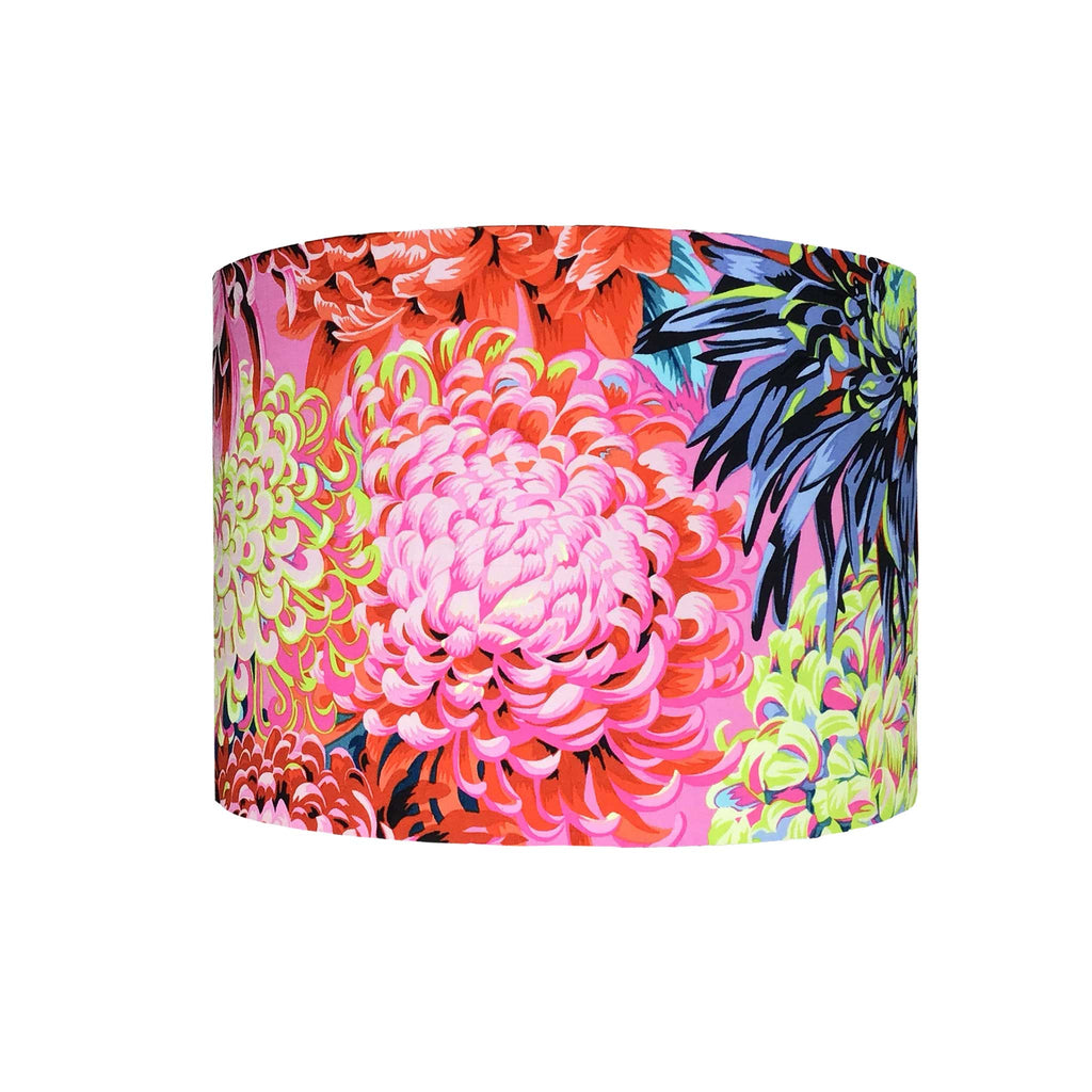 Lamp Shade in Bold Blossom - Pinks, Blues and Yellows - ZziniHome