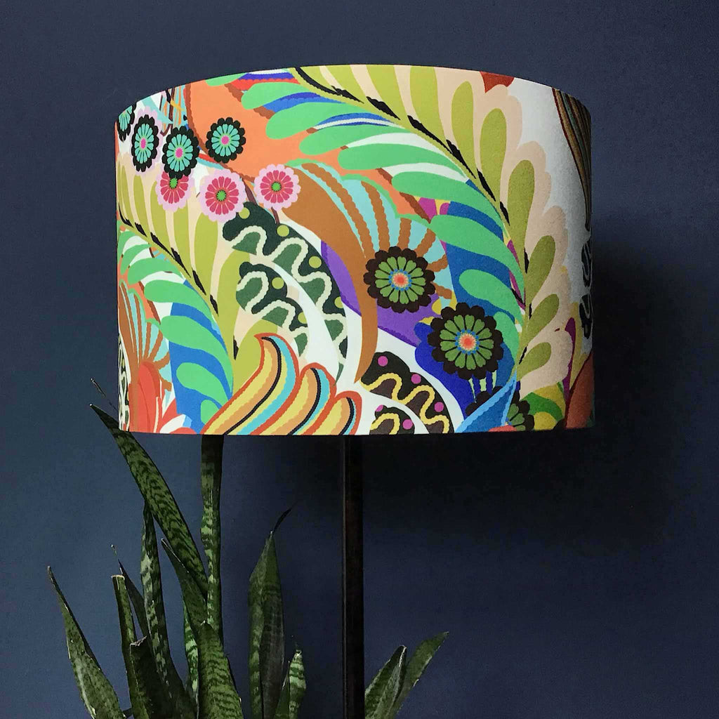 Large, Medium and Small Lamp Shade with Striking Floral Pattern