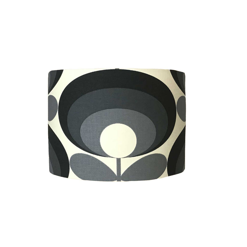 Lamp Shade in Designer Fabric with Bold Flower Pattern