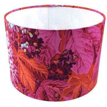 Lamp Shade with Bold Leaves
