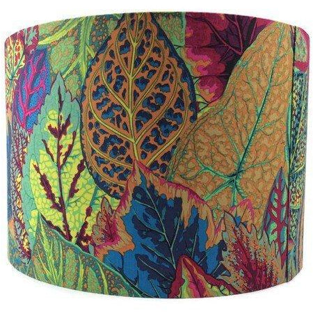 Colourful Lamp Shade with Large Petunia Leaves - ZziniHome