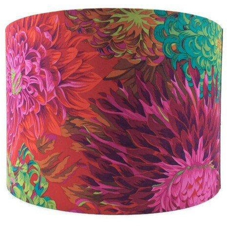 Large Lamp Shade with Striking Floral Pattern