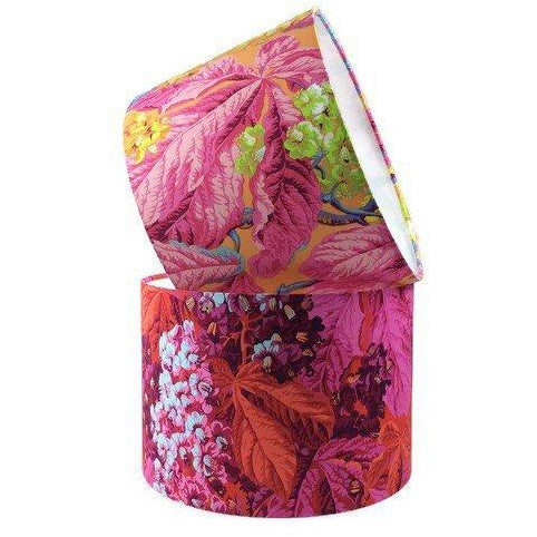 Handmade Lamp Shade with Flowers in Bright Pinks - ZziniHome