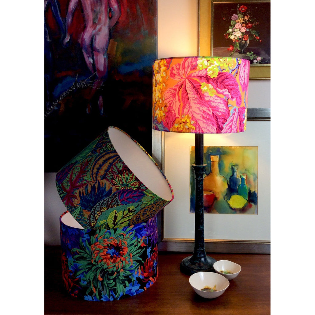 Floral Lamp Shade in Pink, Yellow and Blue - ZziniHome