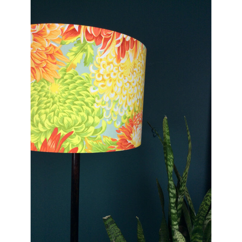 Large Lamp Shade with Beautiful Flowers in Yellow and Green - ZziniHome