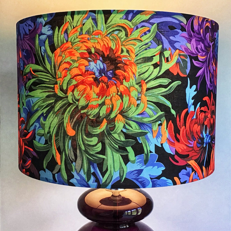 Colourful Lamp Shade with Large Flowers - ZziniHome