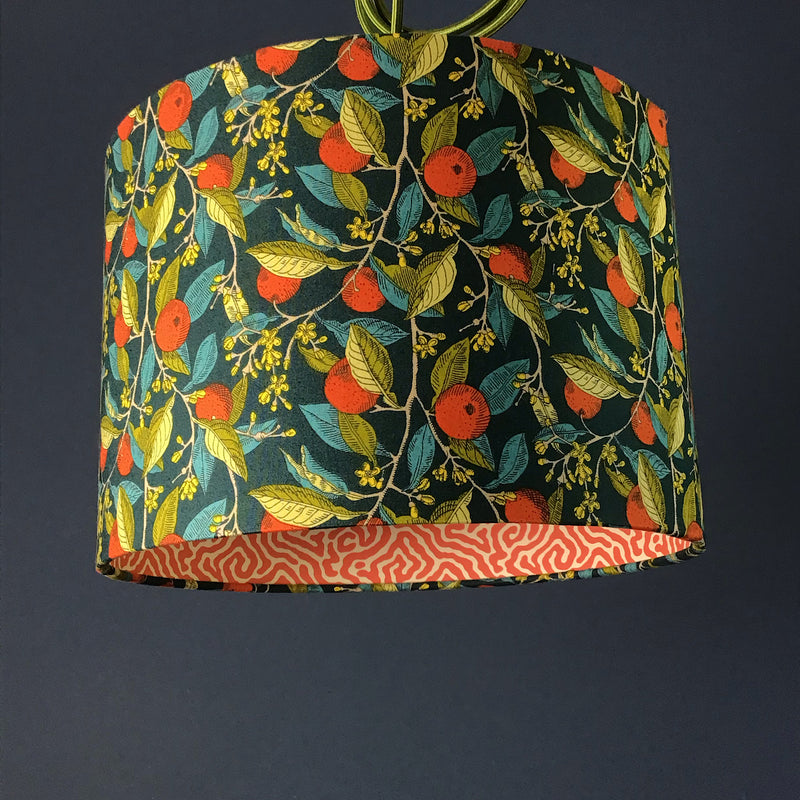 Liberty fabric double sided lampshade