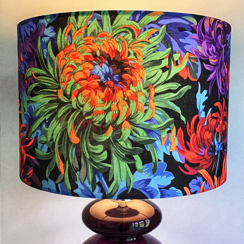 Colourful Lamp Shade with Large Summer Flowers