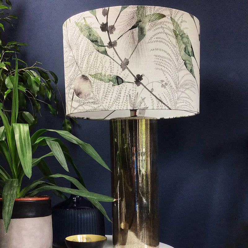 Large Lamp Shade with Plant Design in Greens and Naturals - ZziniHome