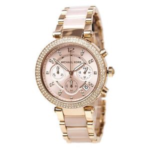 MICHAEL KORS - PARKER ROSE GOLD-PLATED CHRONOGRAPH MK5896