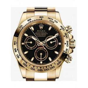 ROLEX COSMOGRAPH DAYTONA OYSTER, GOLD BLACK