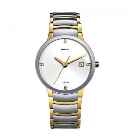 RADO CENTRIX GOLD SILVER WHITE DIAL 1455 COUPLE