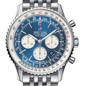 BREITLING STYLISH NAVITIMER BLUE SILVER CHAIN 87552