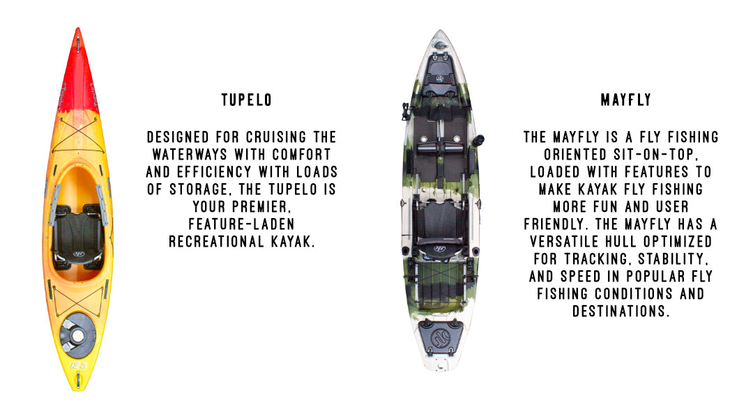 Jackson Kayak Tupelo and Jackson Kayak Mayfly